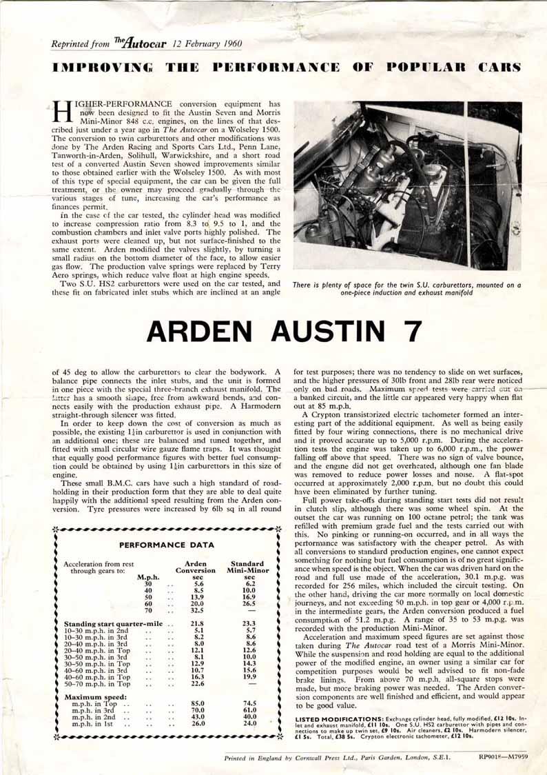 austin seven special
